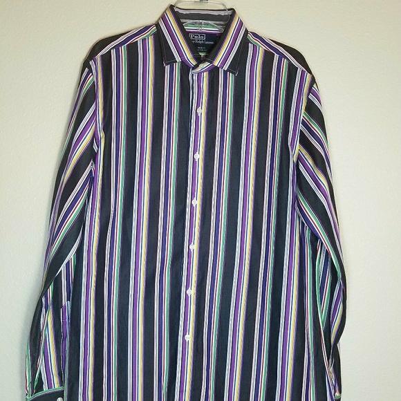 c7ab40cd83f Polo Ralph Lauren Regent Mens Striped Custom Fit. M 5b0352b89d20f0b805b83507